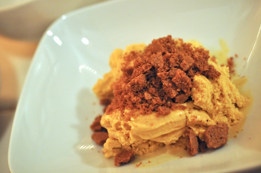 Pumpkin Pie Ice Cream with Ginger Snap Cookie Crumble