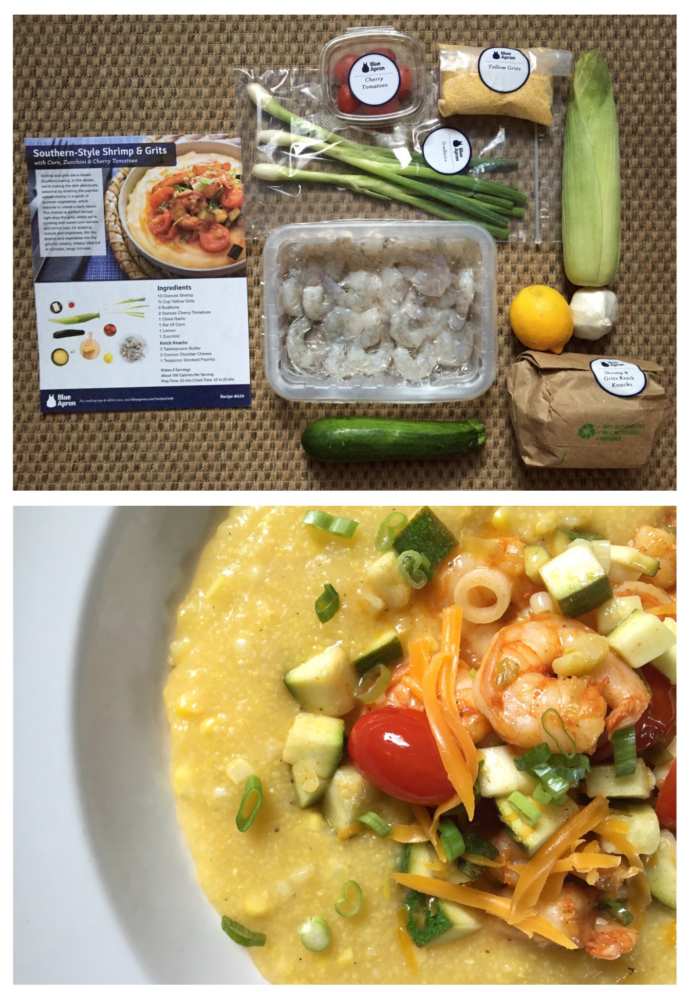 Blue apron yellow grits - Branching Owl S Blue Apron Southern Shrimps And Grits
