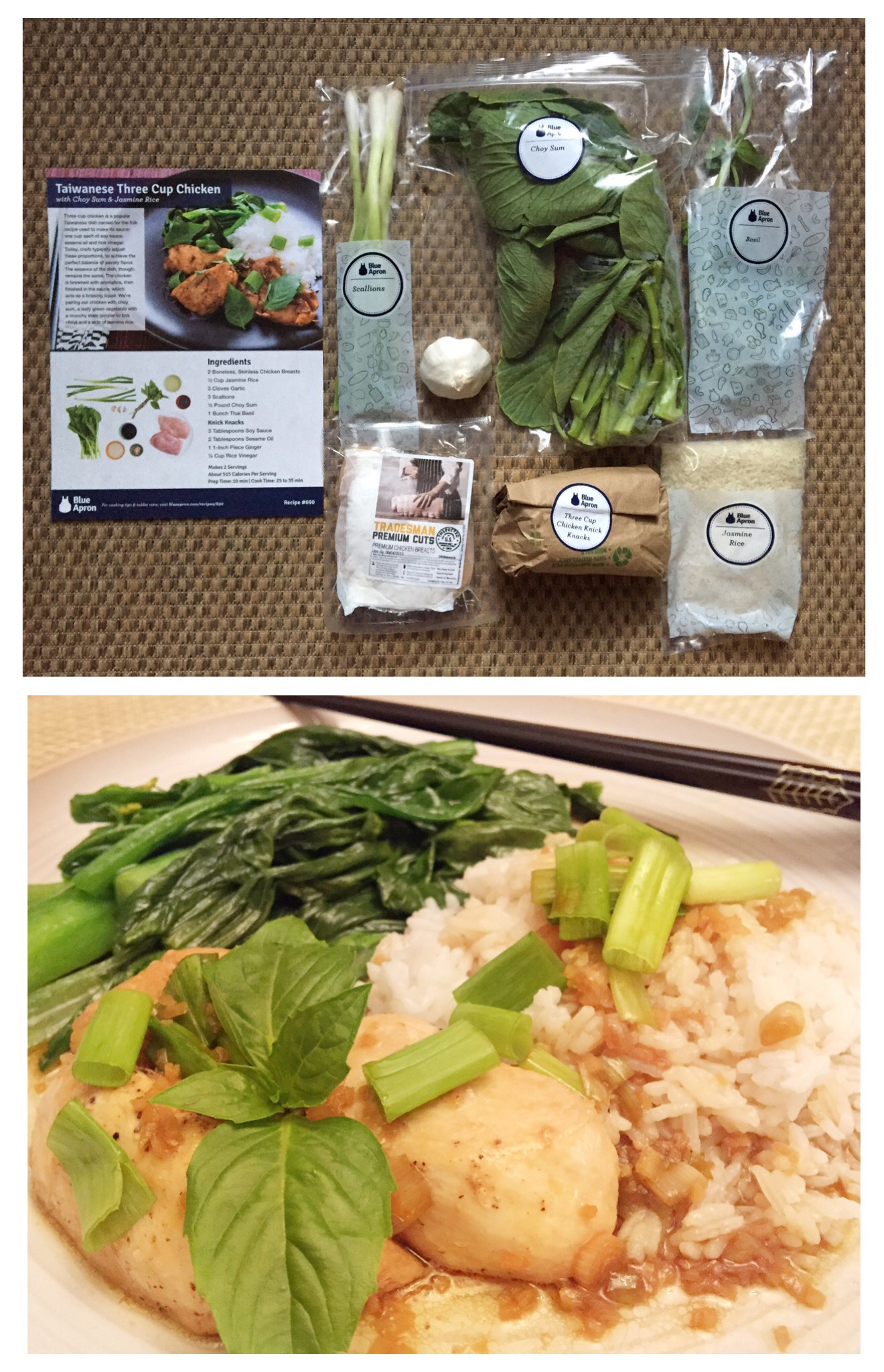 Blue apron yellow grits - Branching Owls Blue Apron Taiwanese 3 Cup Chicken